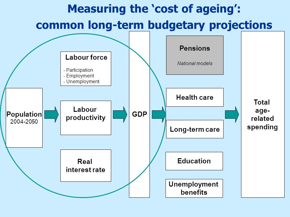 Measuring the 'cost of ageing': common long-term budgetary projections