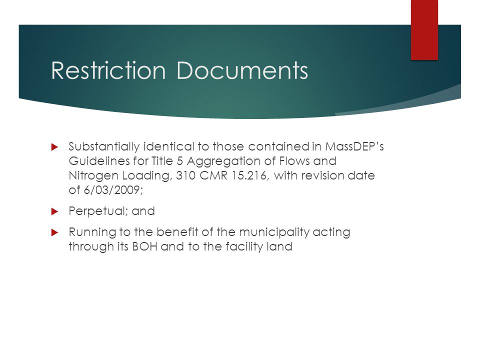 Restriction Documents