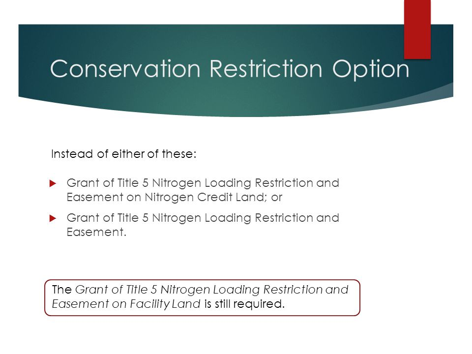 Conservation Restriction Option