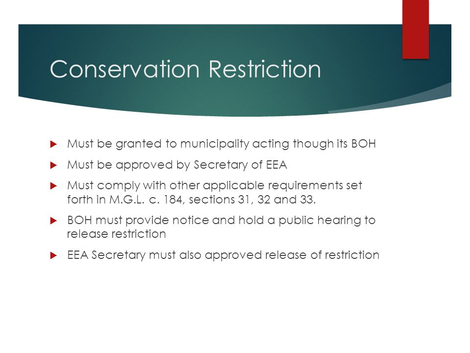 Conservation Restriction