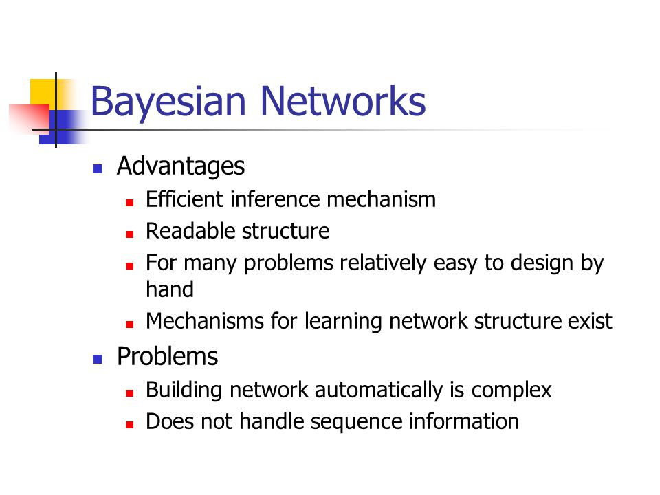 Bayesian Networks Advantages Problems Efficient inference mechanism