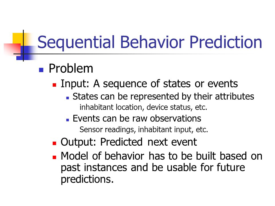Sequential Behavior Prediction