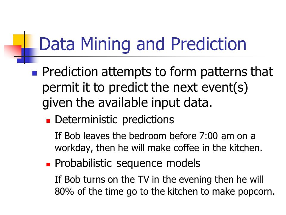 Data Mining and Prediction