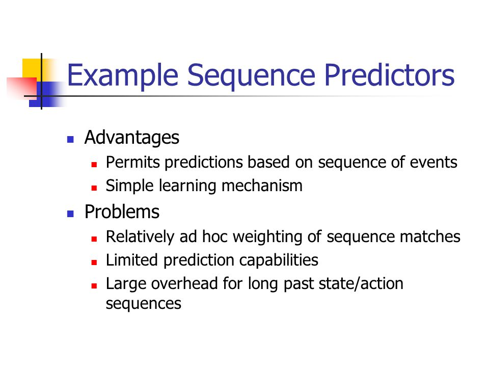 Example Sequence Predictors