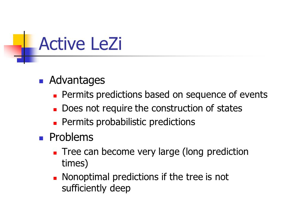 Active LeZi Advantages Problems