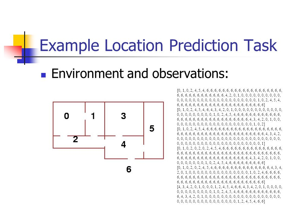 Example Location Prediction Task