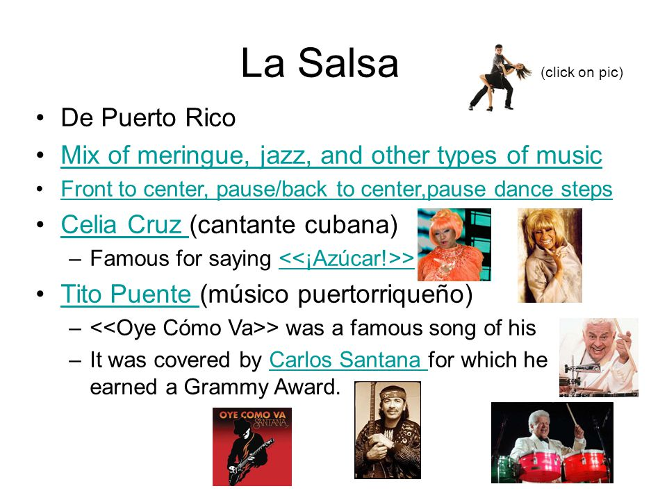 La Salsa (click on pic) De Puerto Rico