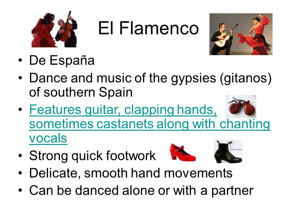El Flamenco De España. Dance and music of the gypsies (gitanos) of southern Spain.
