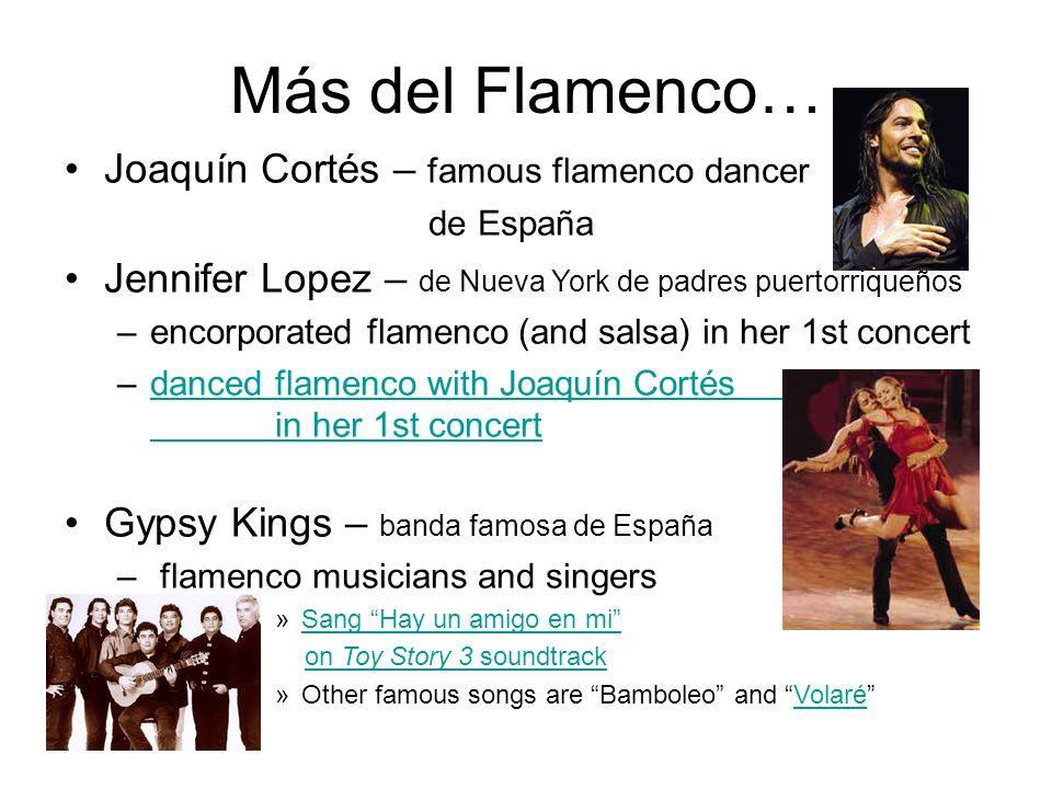 Más del Flamenco… Joaquín Cortés – famous flamenco dancer