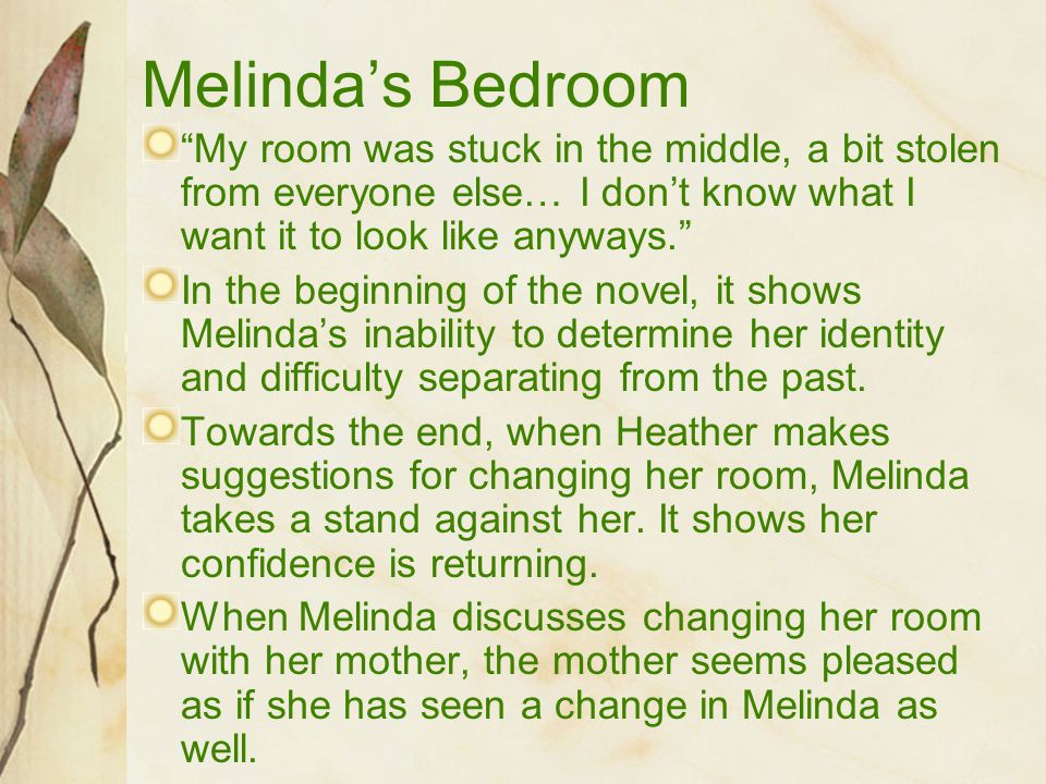 Melinda's Bedroom My room was stuck in the middle, a bit stolen from everyone else… I don't know what I want it to look like anyways.