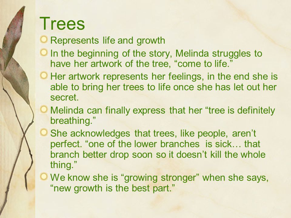 Trees Represents life and growth