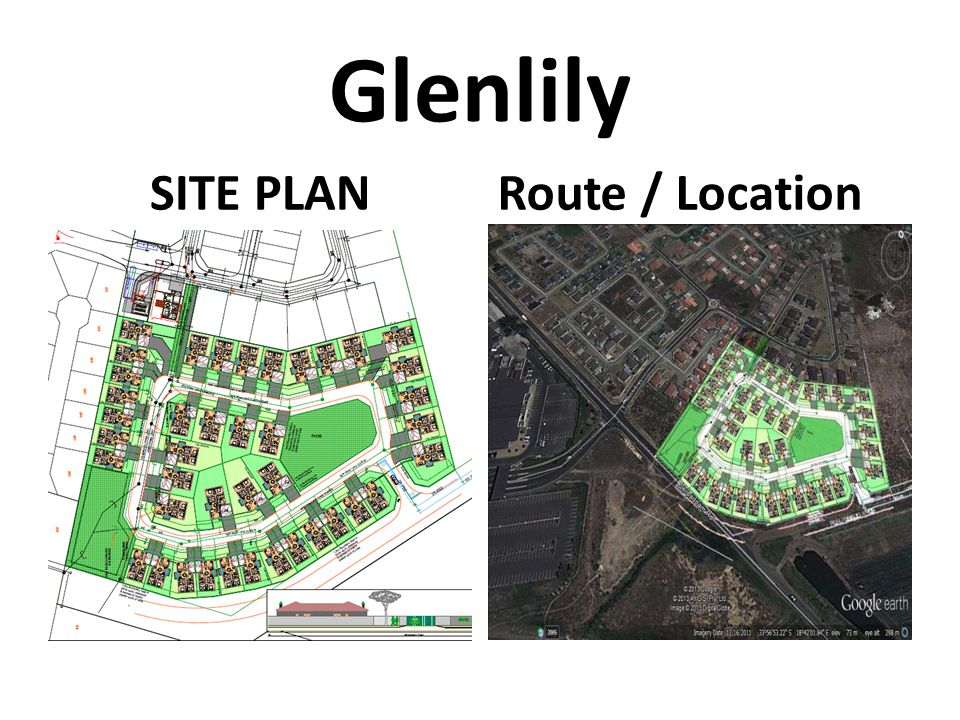 Glenlily SITE PLAN Route / Location