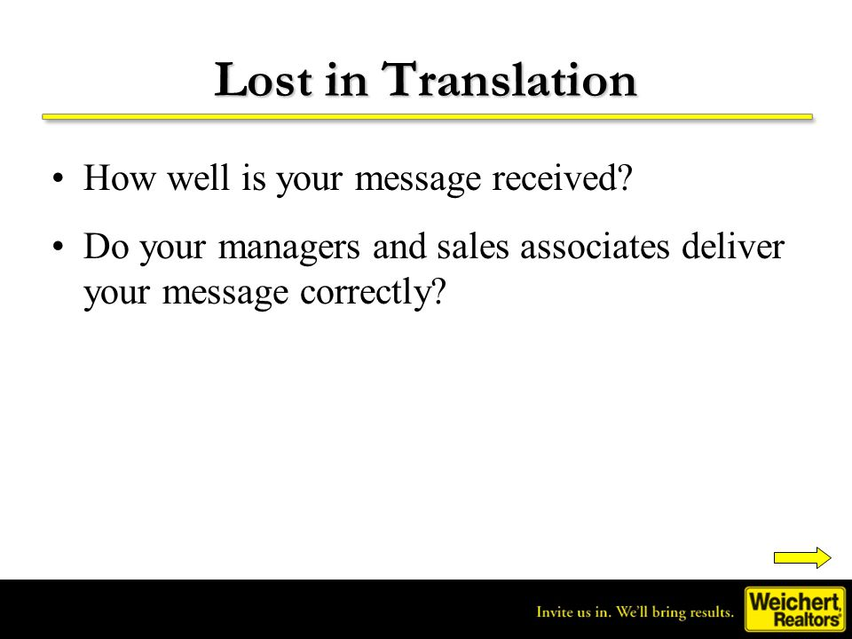 Lost in Translation How well is your message received