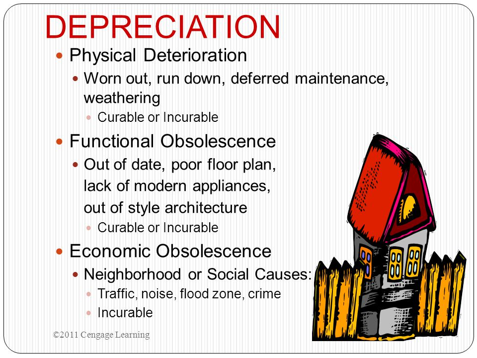 DEPRECIATION Physical Deterioration Functional Obsolescence