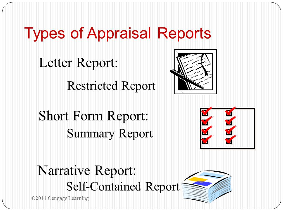 Types of Appraisal Reports