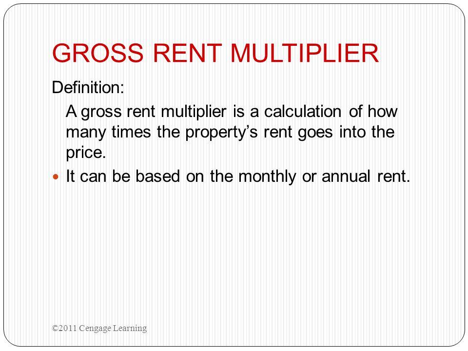GROSS RENT MULTIPLIER Definition: