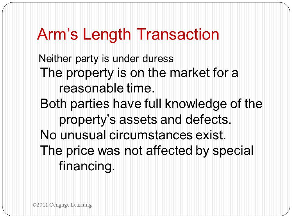 Arm's Length Transaction