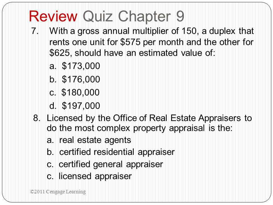 Review Quiz Chapter 9