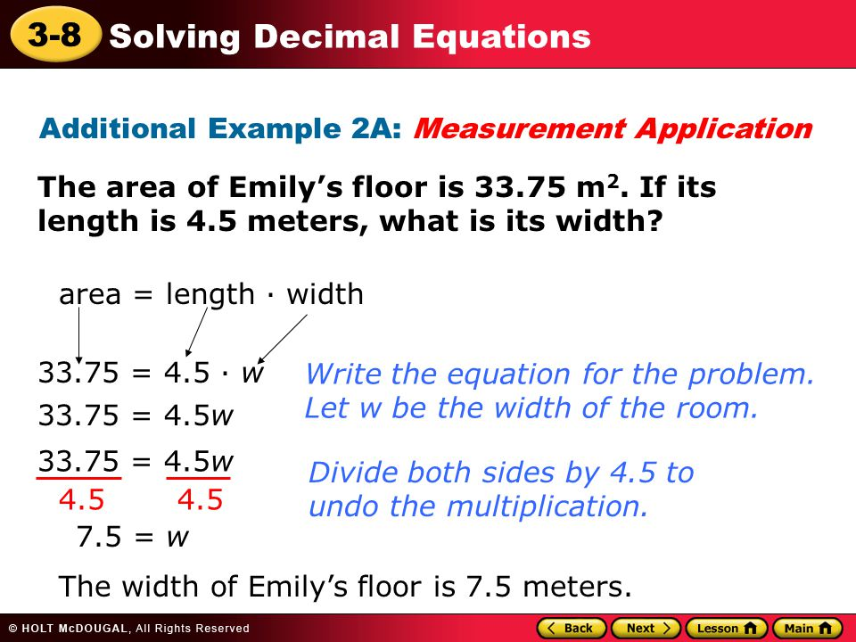 Additional Example 2A: Measurement Application