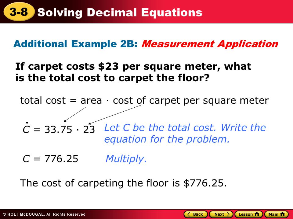 Additional Example 2B: Measurement Application