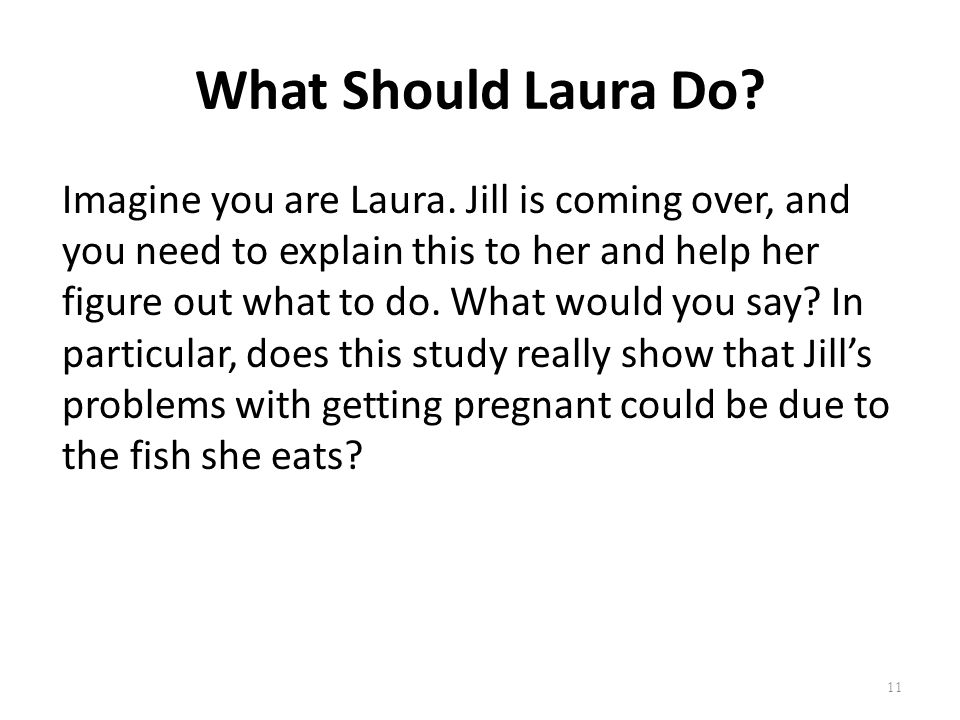 What Should Laura Do