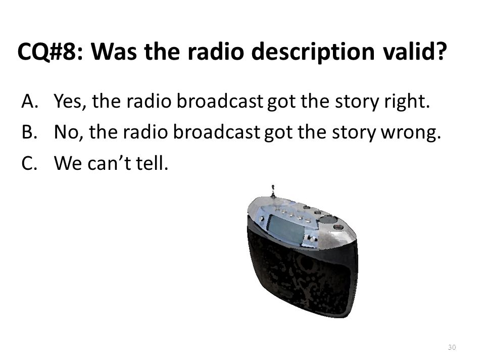 CQ#8: Was the radio description valid