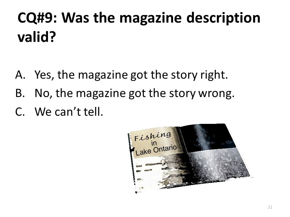 CQ#9: Was the magazine description valid