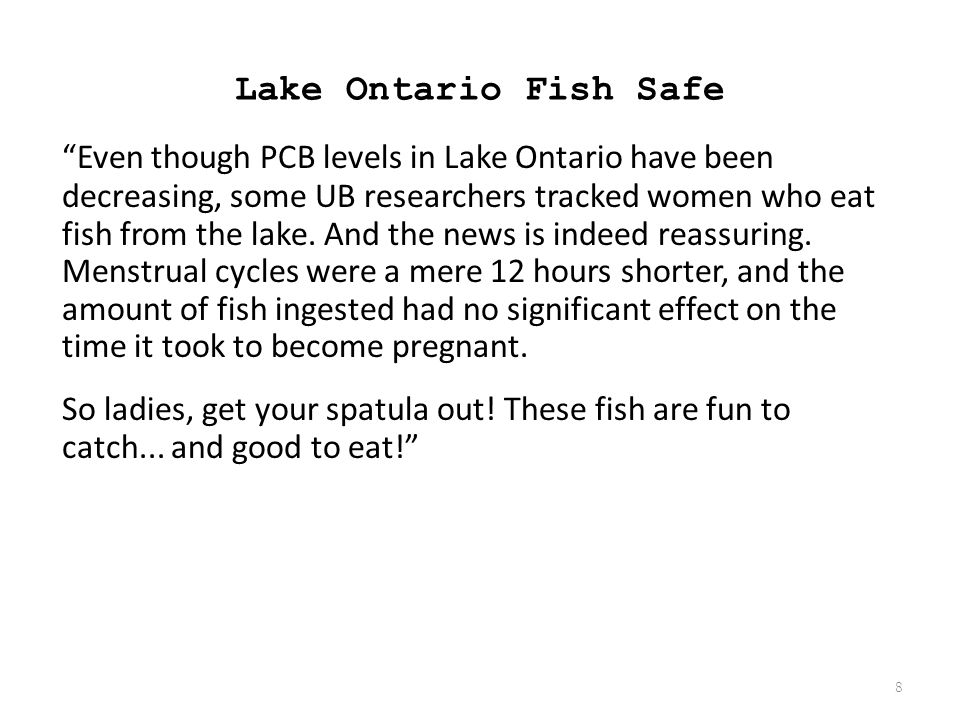 Lake Ontario Fish Safe