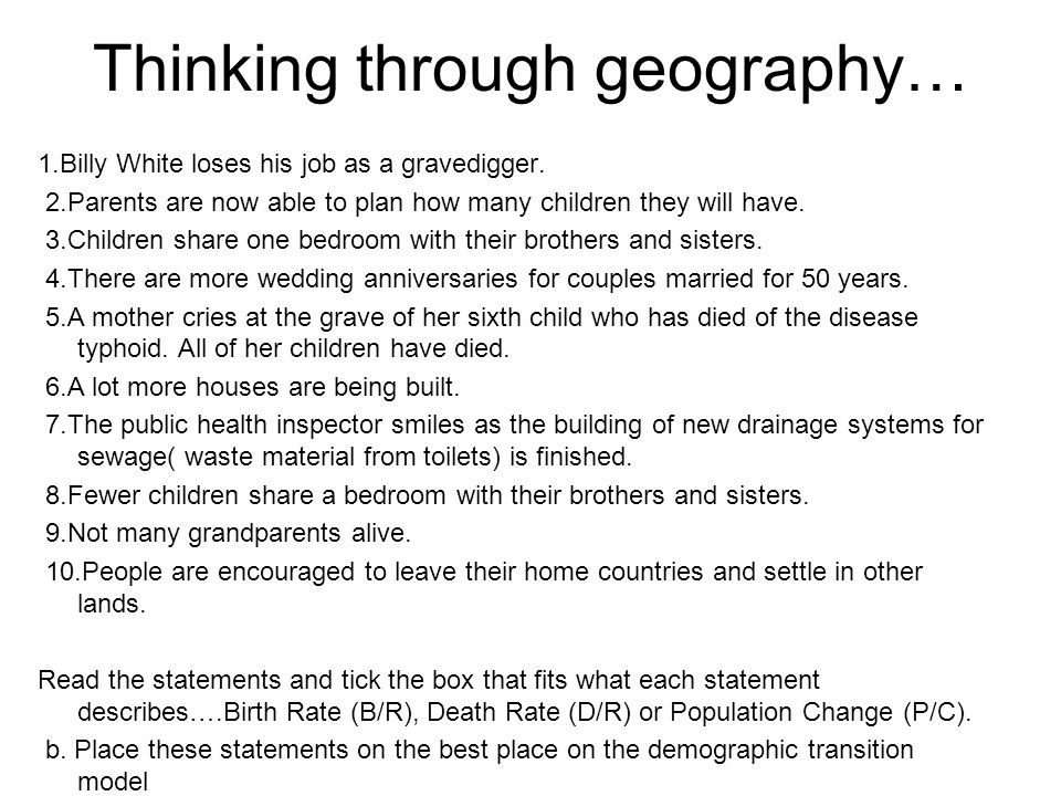 Thinking through geography…