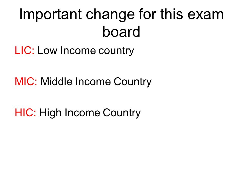 Important change for this exam board