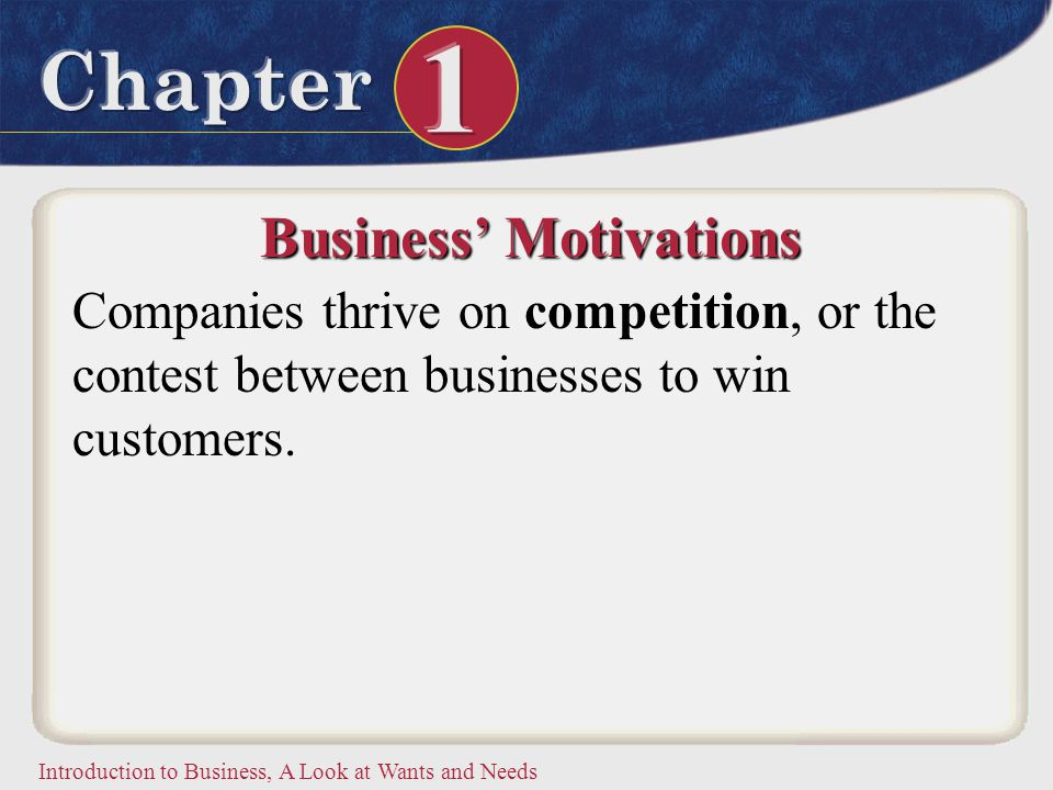 Business' Motivations