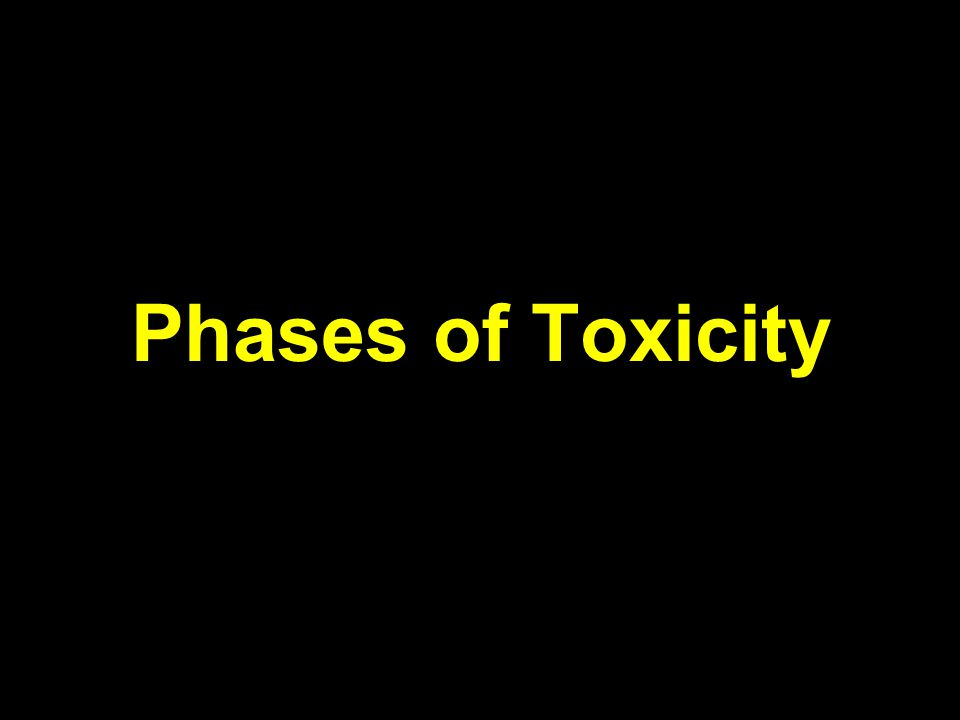 Phases of Toxicity