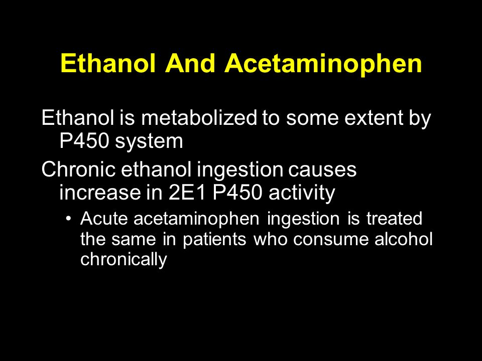 Ethanol And Acetaminophen