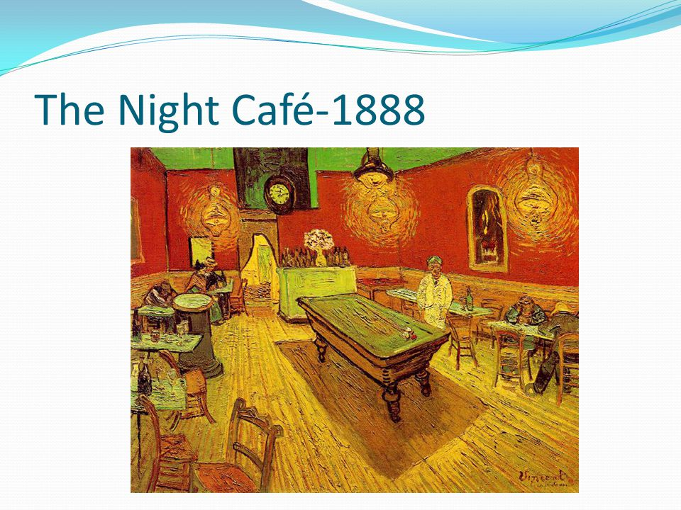 The Night Café-1888 Discuss what differences there is between early paintings.