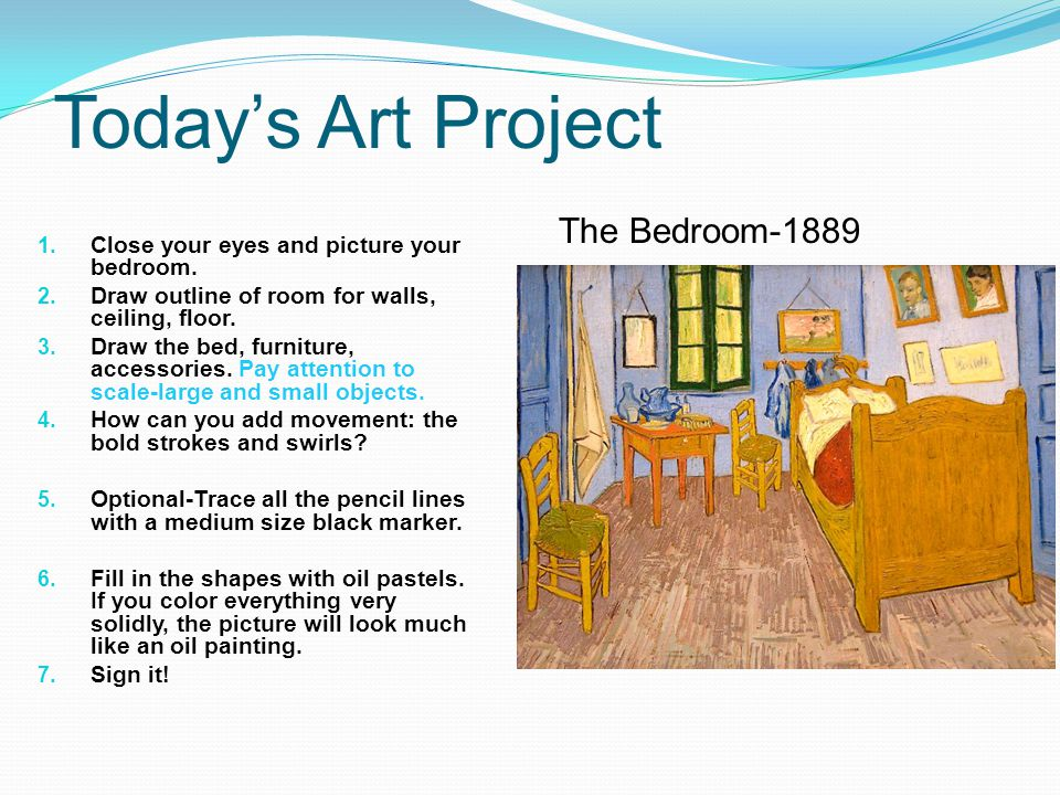 Today's Art Project The Bedroom-1889