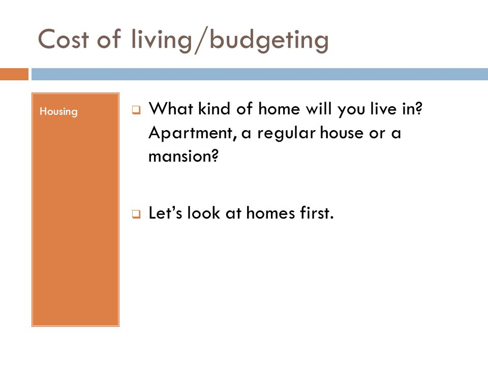 Cost of living/budgeting