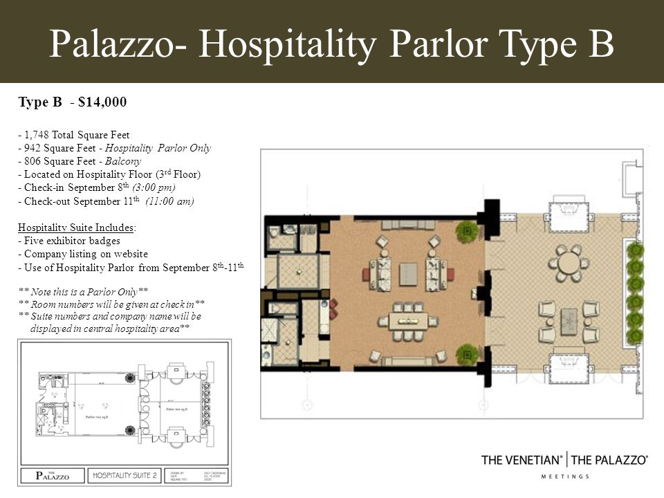 Palazzo- Hospitality Parlor Type B