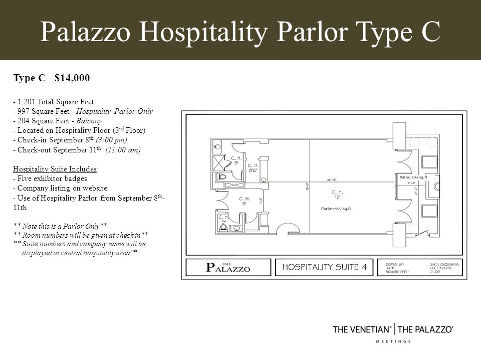 Palazzo Hospitality Parlor Type C