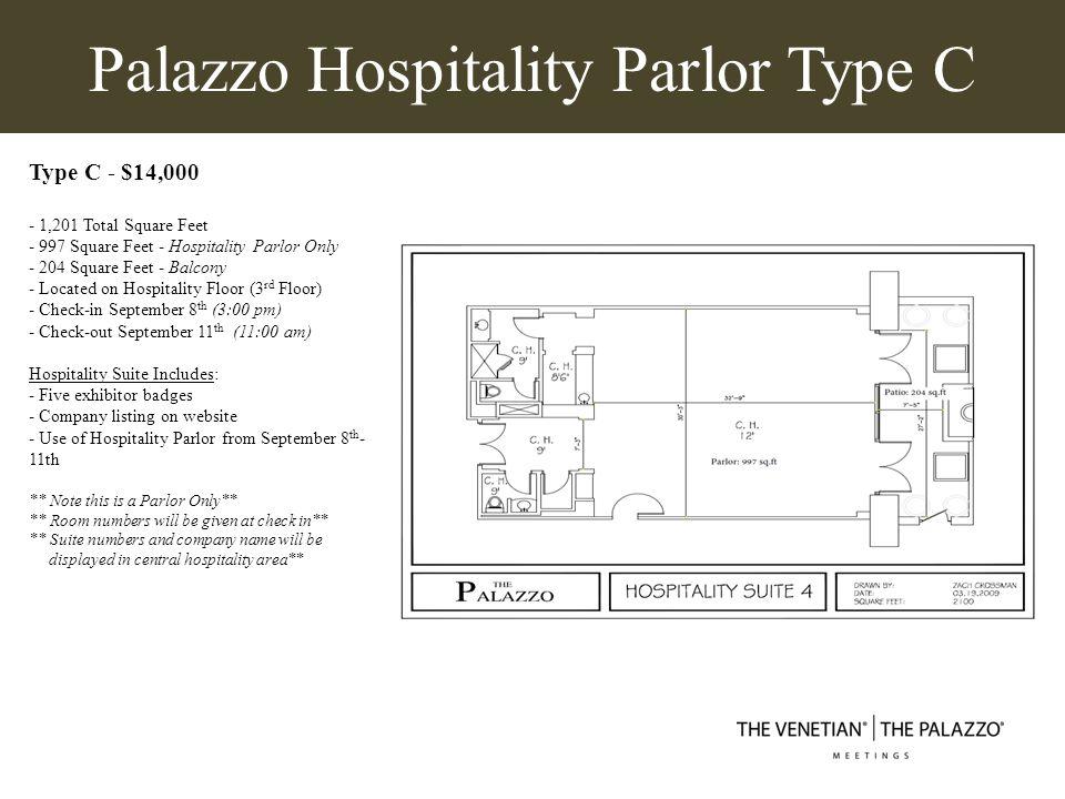 Palazzo Hospitality Parlor Type C