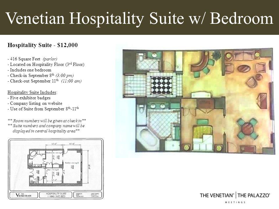 Venetian Hospitality Suite w/ Bedroom