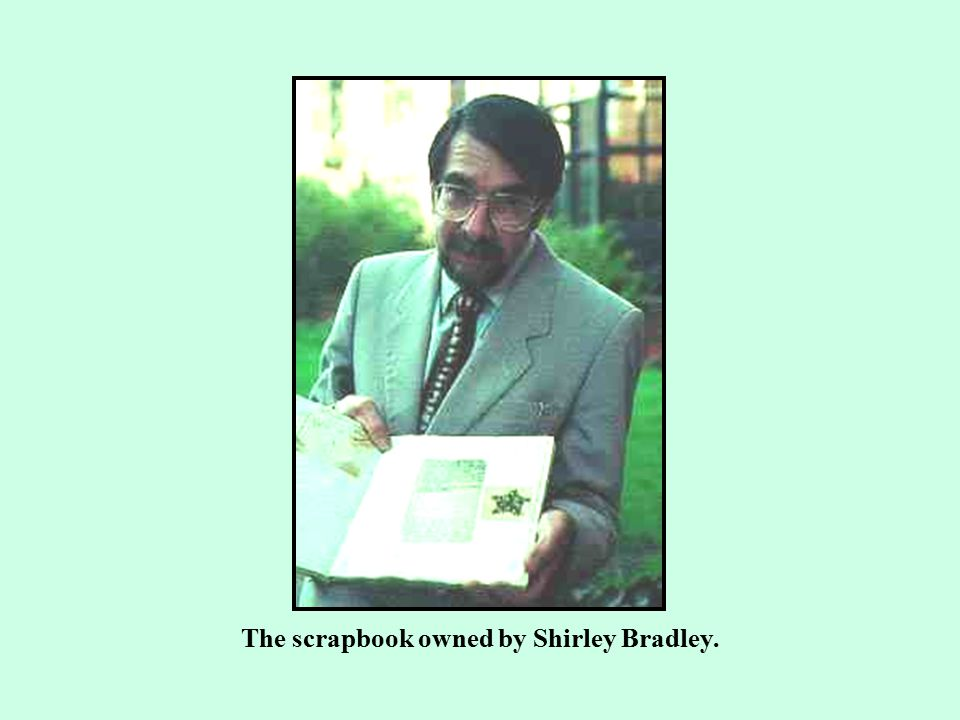 The scrapbook owned by Shirley Bradley.