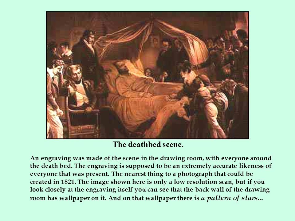 The deathbed scene.