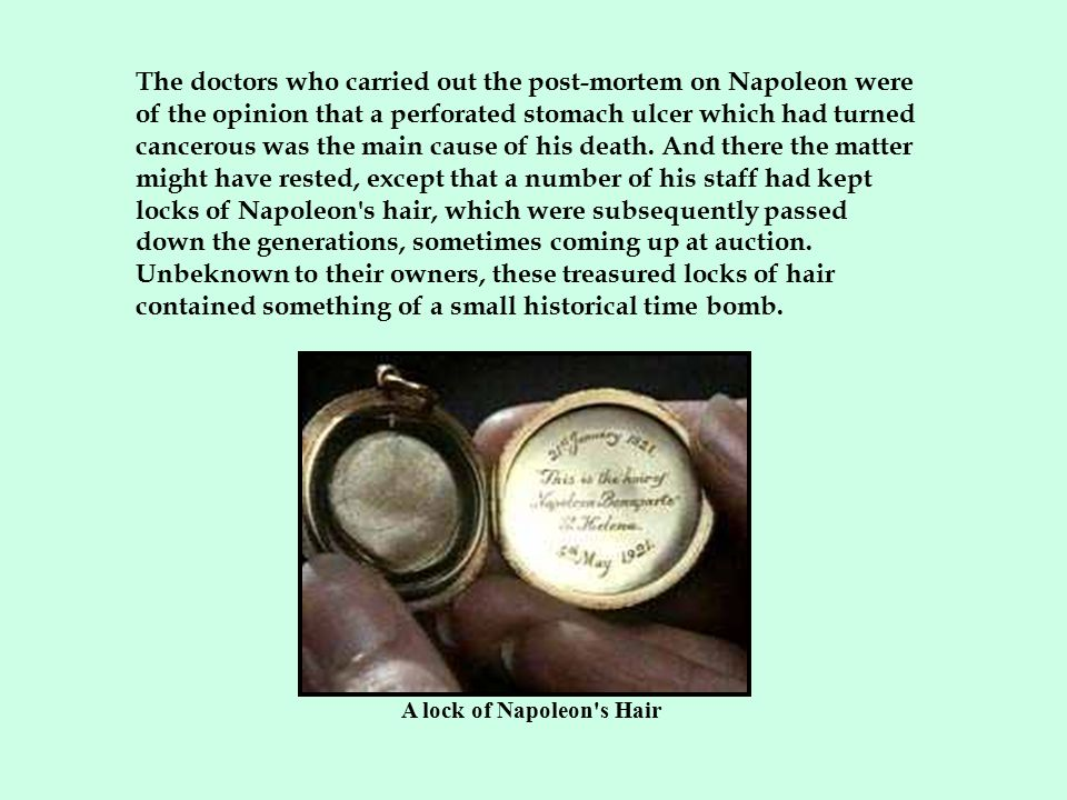 A lock of Napoleon s Hair