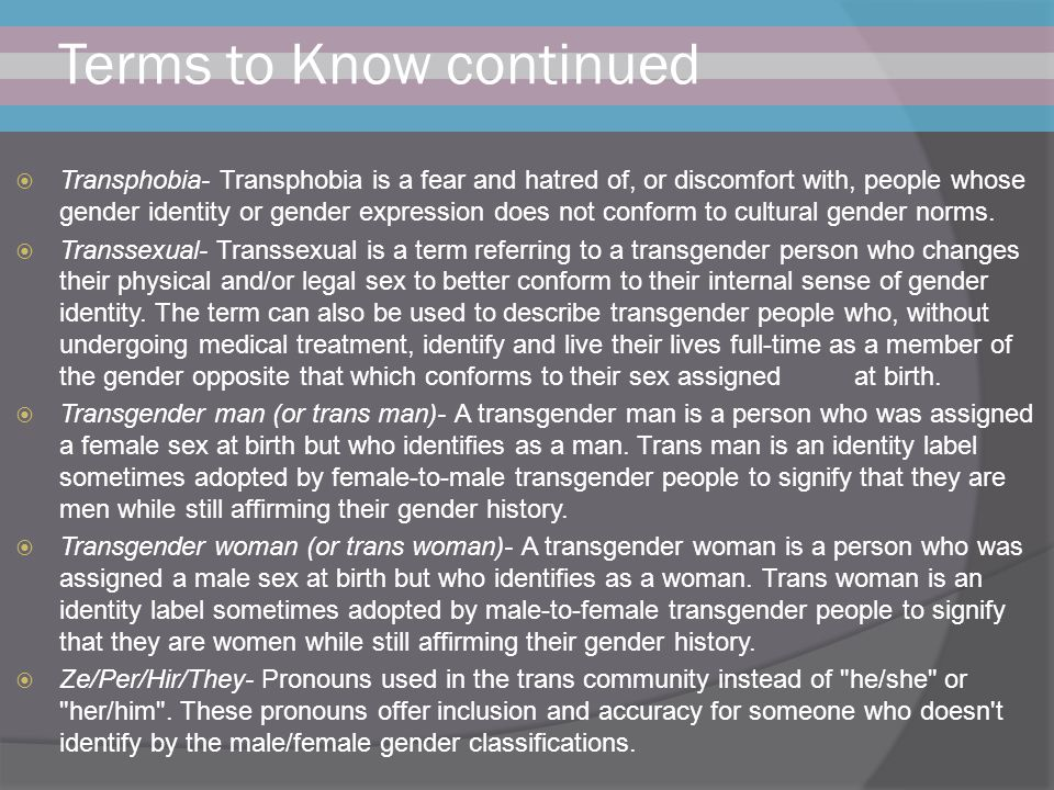 Terms to Know continued