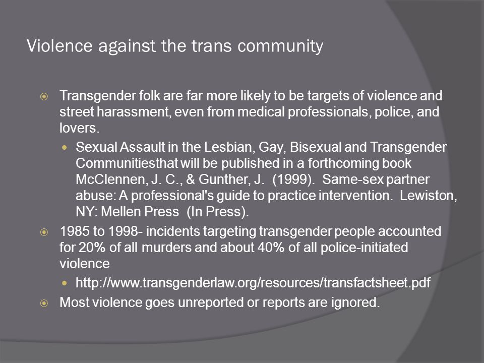 Violence against the trans community