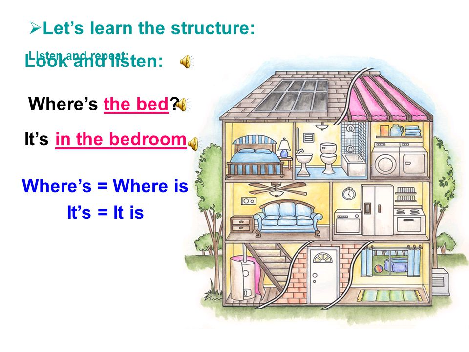 Let's learn the structure: