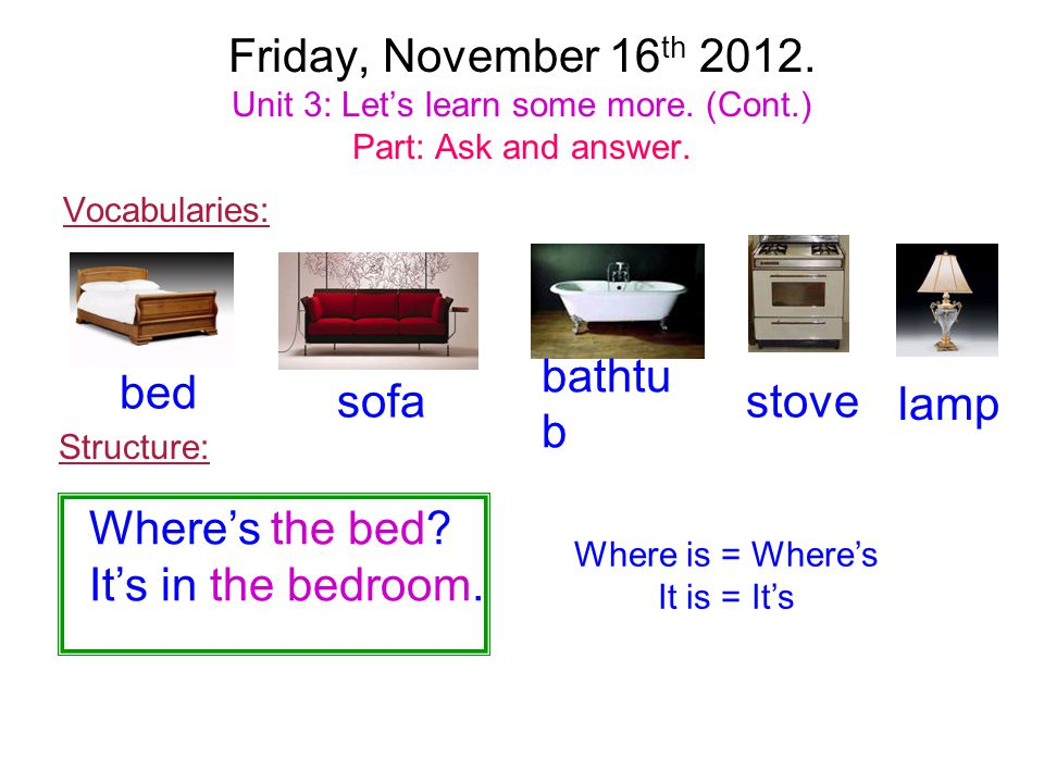 Where is = Where's It is = It's