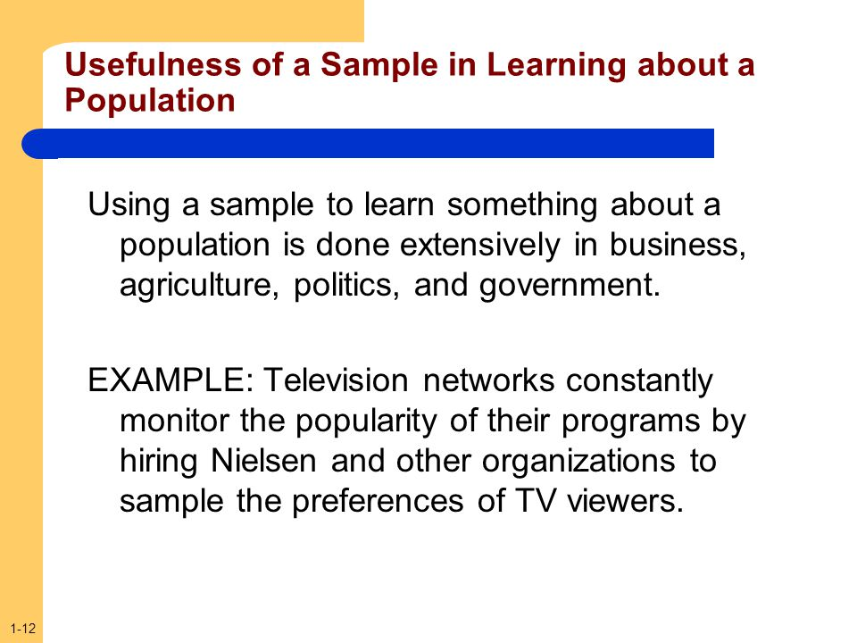 Usefulness of a Sample in Learning about a Population