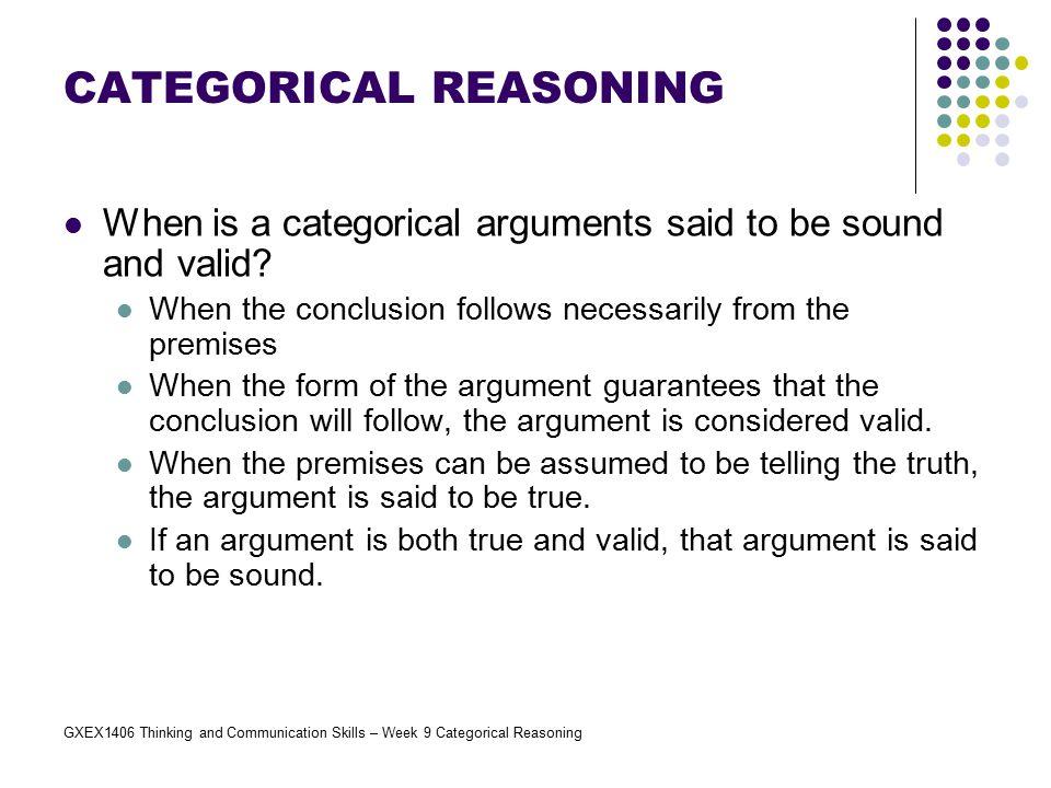 CATEGORICAL REASONING