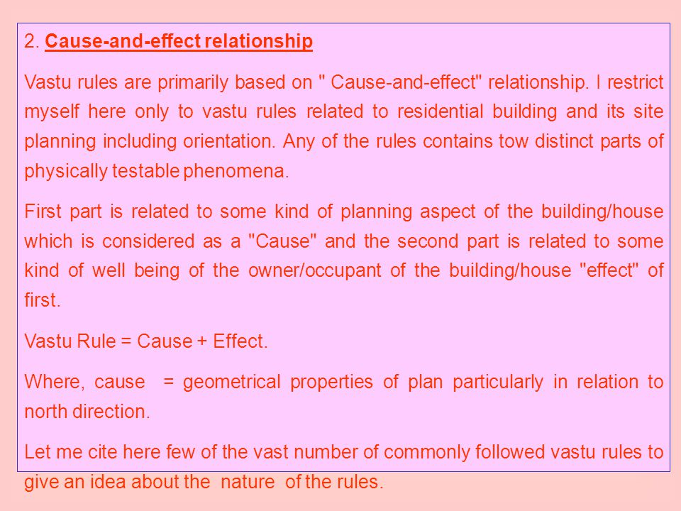 2. Cause-and-effect relationship